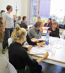 leerkrachten op een sessie